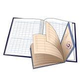 Libro del diario y del estudiante s Imagen de archivo libre de regalías
