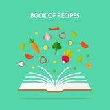 Libro del ejemplo del concepto del vector de las recetas Fotos de archivo libres de regalías