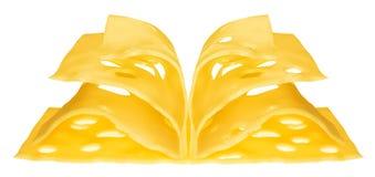 Libro del formaggio Fotografie Stock