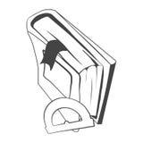 Libro del fumetto con l'illustrazione di vettore del goniometro Illustrazione di Stock