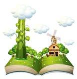 Libro del gambo di una pianta di fagioli Fotografia Stock
