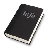 Libro del Info Fotos de archivo