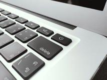 Libro del mac del teclado de ordenador Imágenes de archivo libres de regalías