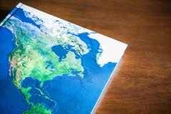 Libro del mapa del mundo Foto de archivo