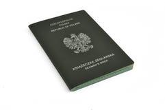 Libro del marinero polaco Imagen de archivo libre de regalías