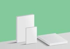 Libro del modello isolato su un fondo verde e grigio Fotografie Stock