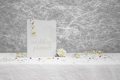 Libro del planificador de la boda Fotos de archivo