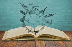 Libro del viaje Foto de archivo libre de regalías