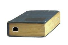 Libro dell'annata con lo zoccolo di Ethernet Immagini Stock Libere da Diritti