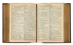 Libro dell'annata con testo Fotografie Stock Libere da Diritti