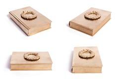 Libro della corona dell'oro Fotografia Stock Libera da Diritti