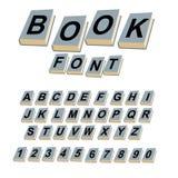 Libro della fonte Alfabeto sulle coperture dei libri ABCs dell'annata di collegamento illustrazione vettoriale