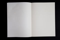 Libro della pagina in bianco immagini stock