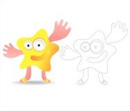 Libro della pagina di coloritura per i bambini - mostri graziosi Fotografia Stock Libera da Diritti