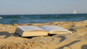 Libro della sabbia stock footage