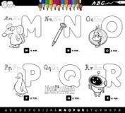 Libro determinado del color de las letras educativas del alfabeto ilustración del vector