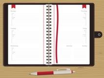 Libro di appuntamento in bianco Fotografie Stock