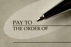 Libro di assegno Immagini Stock Libere da Diritti
