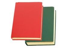 Libro di colore rosso e del Libro verde Immagine Stock