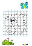 Libro di coloritura 1 - farfalla Fotografia Stock Libera da Diritti