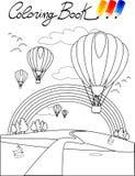 Libro di coloritura, aerostato Immagine Stock