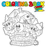 Libro di coloritura con gli animali svegli 2 Fotografia Stock