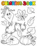 Libro di coloritura con il tema 1 di autunno Fotografie Stock Libere da Diritti