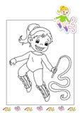 Libro di coloritura degli impianti 4 - gymnast Immagini Stock