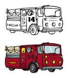 Libro di coloritura del Firetruck Fotografie Stock Libere da Diritti