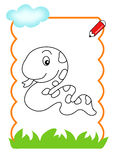 Libro di coloritura del legno, serpente Immagine Stock