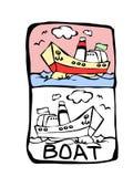 Libro di coloritura della barca Immagine Stock Libera da Diritti