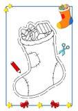 Libro di coloritura di natale 4 Fotografia Stock