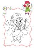 Libro di coloritura - fairy 1 Immagini Stock Libere da Diritti
