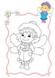 Libro di coloritura - fairy 4 Fotografie Stock Libere da Diritti