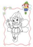 Libro di coloritura - fairy 7 Immagine Stock Libera da Diritti