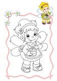 Libro di coloritura - fairy 9 Fotografie Stock Libere da Diritti