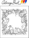 Libro di coloritura, giungla Immagini Stock Libere da Diritti