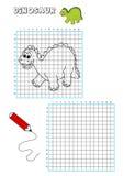 Libro di coloritura - griglia 4 Fotografia Stock