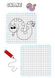 Libro di coloritura - griglia 6 Fotografia Stock
