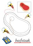 Libro di coloritura per i bambini 10 illustrazione vettoriale