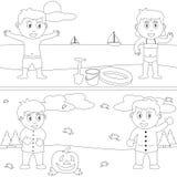 Libro di coloritura per i bambini [29] Fotografia Stock Libera da Diritti