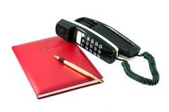 Libro di consultazione del telefono fotografia stock