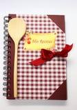 Libro di cucina. fotografia stock