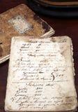 Libro di cucina antico Immagini Stock