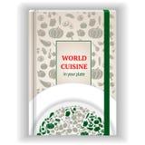Libro di cucina del modello di copertura illustrazione vettoriale