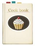 Libro di cucina dipinto con i segnalibri Illustrazione Vettoriale