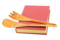 Libro di cucina ed articolo da cucina Immagini Stock