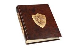 Libro di cuoio marrone dell'annata Fotografia Stock
