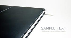 Libro di cuoio nero Fotografie Stock Libere da Diritti
