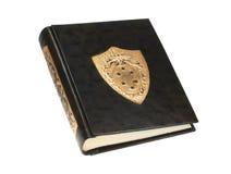 Libro di cuoio nero dell'annata Immagini Stock Libere da Diritti